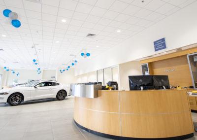 Malloy Ford Dealership Customer Lobby
